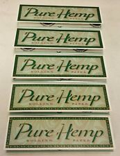 5 Packs Pure Hemp 1 1/4 Cigarette Rolling Papers Free Shipping