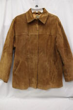 A.M.I. Brown Leather Mens Casual Jacket, Front Zipper, Size L-B29