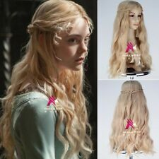 Maleficent Princess Aurora Wig Long Wavy Ash Blonde Anime Halloween Cosplay Wigs