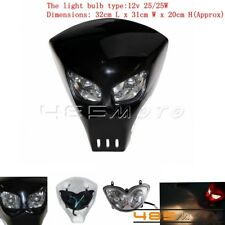 Motorcycle Dual Sport Streetfighter Front Headlight Fairing Mask Cover Universal