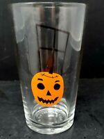 Pottery Barn Halloween Spooky Jack O' Lantern Clear Libby Glass New