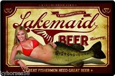 Lakemaid Beer Miss Largemouth Bass Refrigerator Magnet