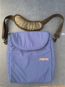 Jansport Padded Blue Shoulder Laptop Messenger Bag Crossbody Bag