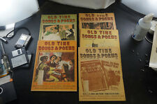 Lot of 5 Old Time Song & Poems Magazines from 1968
