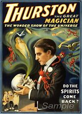 VINTAGE THURSTON MAGIC MAGICIAN A3 POSTER PRINT