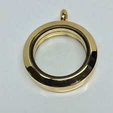 25mm 14K SOLID GOLD, FLOATING GLASS LOCKET RETAIL $2499
