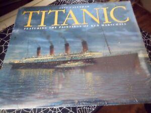 Vintage 1999 TITANIC  Calendar . The Paintings Of Ken Marschall NEW SEALED