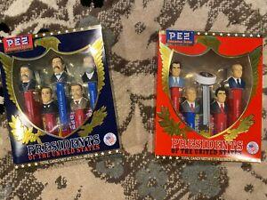PEZ Presidents Vol. V 5 + Volume VIII 8 - New In Box Reagan Roosevelt FREE SHIP!