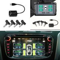 TPMS mit 4 integrierten Sensoren Temperaturalarm USB für Android Auto SUV DVD