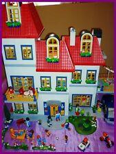 ♥♥ Maison triple étages Playmobil + 48 Personnages ♥♥