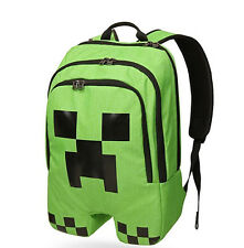 Minecraft School Backpack Rucksack Waterproof Book Creeper Storage Bag Sports
