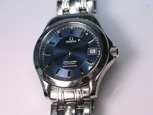Omega Seamaster Diver 120M Automatic Chronometer Blue Dial Men's Watch