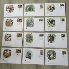 PROMOTION TIMBRES ANIMAUX  WWF 3  SERIES COMPLETES FDC SUR LES SINGES