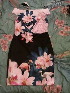 Ted Baker off the shoulder Dress (size 3 which Is a UK 12)