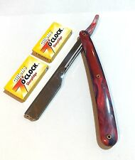 BARBER STRAIGHT CUT THROAT SALON SHAVING RAZOR SHAVETTE RASOI RASOIRS+BLADES