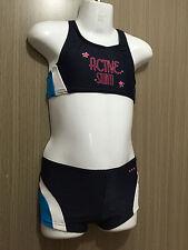 BNWT Girls Sz 5 Cherrylane Brand Cute Navy/Aqua Tankini Swim Suit Bathers Set