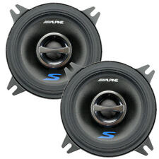 "Alpine S-S40 S-Series 4"" 2-Way 45W RMS Full Range Coaxial Speakers Coax NEW"