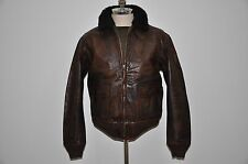 Polo Ralph Lauren Fur Collar Heavily Distressed Leather Bomber Jacket M