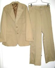 LEVIS SUIT VINTAGE 1970's LP LEVIS PANATELA SPORTS WEAR MENS 42R - 32/32 1/2