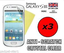 3x Hq Protector De Pantalla Transparente Tapa Protector Film Para Samsung Galaxy S3 Mini I8190