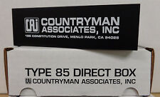 """Countryman DT85 Type 85 FET Instrument Direct Box - 1/4"""" In - XLR Out - NIB"""