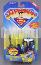 1996 Kenner SUPERMAN Animated EVIL ALIEN BRAINIAC Action Figure w/ offer #MF19-3