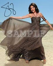 Selena Gomez signed 8x10 Autograph Photo RP - Free ShipN! Sexy