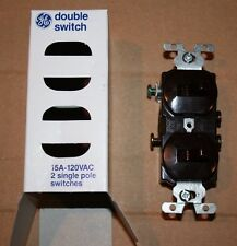 GE General Electric 7940-1M Two Single Pole Switches Brown Double Switch New