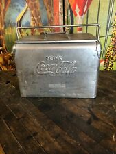 VINTAGE COCA COLA ACTON LOW STAINLESS STEEL COOLER SIGN COKE ULTRA SUPER RARE!!
