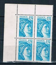 A1256 - TIMBRE DE FRANCE - N° 1976b Neufs**  Variété sans phosphore en Bloc de 4