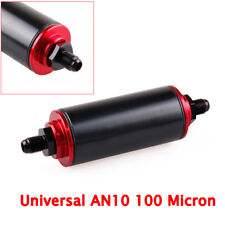 AN10 100 Micron T6061 Aluminum High Flow Fuel Inline Petrol Filter For car Truck