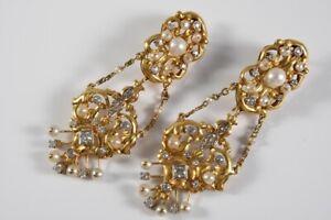 g68m01- Paar 750er/ 18kt Gold Ohrringe m. Diamanten zus. ca. 2,16ct. & Perlen