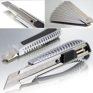 Cuttermesser Profi 18mm Aluminium Cutter Teppich Messer Ersatz Abbrechklingen