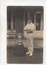 Rochdale / Todmorden Cricket Trophy Lancashire Vintage RP Postcard 388b