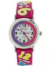 Pink Ravel Girls 3D Design Time Teacher Quartz Watch With White Dial R1513