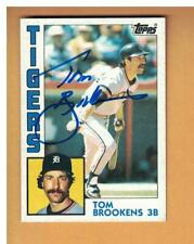 Tom Brookens Autographed 1984 Topps Baseball Card Signed Detroit Tigers