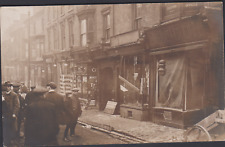 More details for postcard - subsidence in cradley heath-homers shop boarded up - real photo c1914