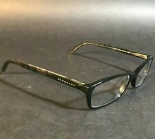 Burberry Unisex Black Clear Nova Check Rectangular Eyeglasses Frames B2073 3164