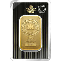 1 oz 2018 Gold Bar - RCM .9999 Gold New Design in Assay - Royal Canadian Mint