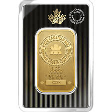 1 oz Gold Bar RCM - New Design in Assay - Royal Canadian Mint