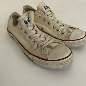 Converse All Star Low Top Shoes Sneakers Mens Sz 7 Womens Sz 9 Off White