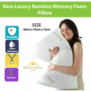 New Bamboo Memory Foam Pillow, Anti-Bacterial Orthopaedic Head Neck Back Support