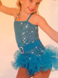 Dance Costume Jazz Tap skate Blue Girlfriends