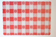 PAPER PLACEMATS CASE OF 1,000 RED GINGHAM FREE SHIPPING
