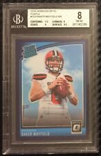 2018 Donruss Optic Baker Mayfield Rated Rookie Purple Prizm 42/50 Browns BGS 8