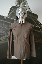 Lacoste Men's Brown & Multicolored Check Long Sleeve Shirt Size 38 (S)