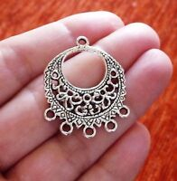 6Pcs Chandelier Earring Findings 5 Hole Necklace Connector Pendants for Jewelry