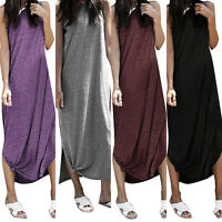 Women Summer Boho Long Maxi Dress Evening Party Beach Dresses Sundress Plus Size