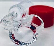 100% Quartz Banger, Super Thick 4mm, 18mm FEMALE Joint +**USA FREE SILICONE JAR