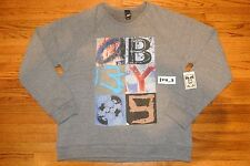 NEW OBEY WORD ON THE STREET XL CREWNECK SHIRT HEATHER GREY T-SHIRT supreme comme